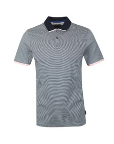 Ted Baker Mens Blue Striped Polo Shirt