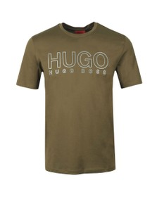 HUGO Mens Green Dolive U202 T-Shirt