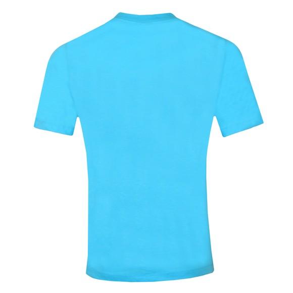 Emporio Armani Mens Blue Reflective Patch Logo T Shirt main image