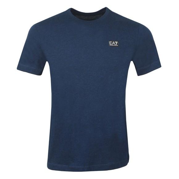 EA7 Emporio Armani Mens Blue Small Logo T-Shirt