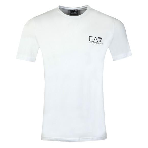 EA7 Emporio Armani Mens White Small Logo T-Shirt