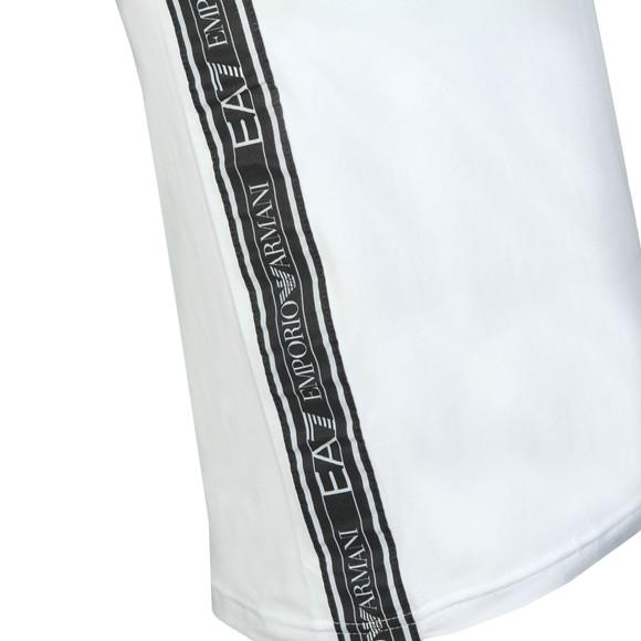 EA7 Emporio Armani Mens White Small Logo T-Shirt main image