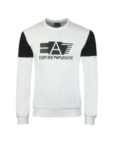 EA7 Emporio Armani Mens White Big Logo Sweatshirt