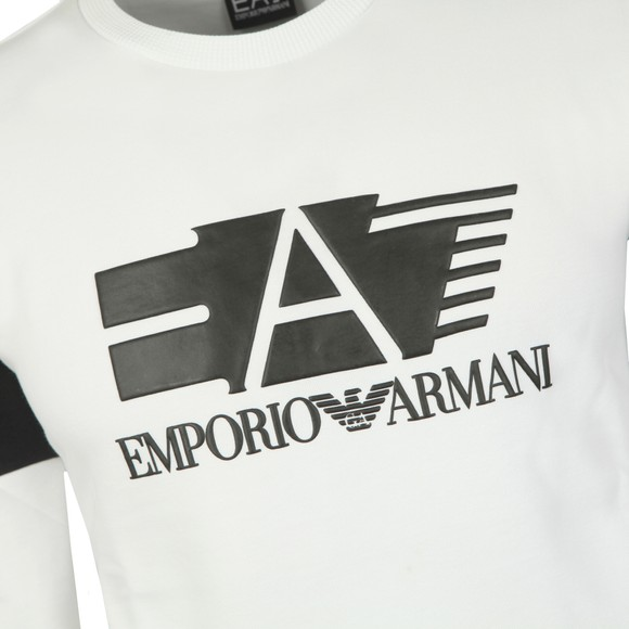 EA7 Emporio Armani Mens White Big Logo Sweatshirt main image