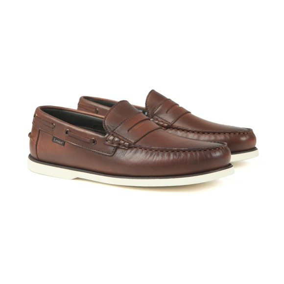 Loake Mens Brown Slip On Moccasin Shoe