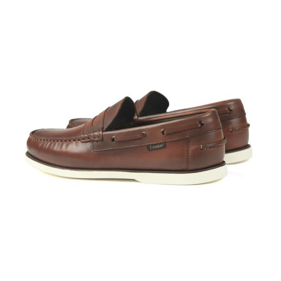 Loake Mens Brown Slip On Moccasin Shoe main image