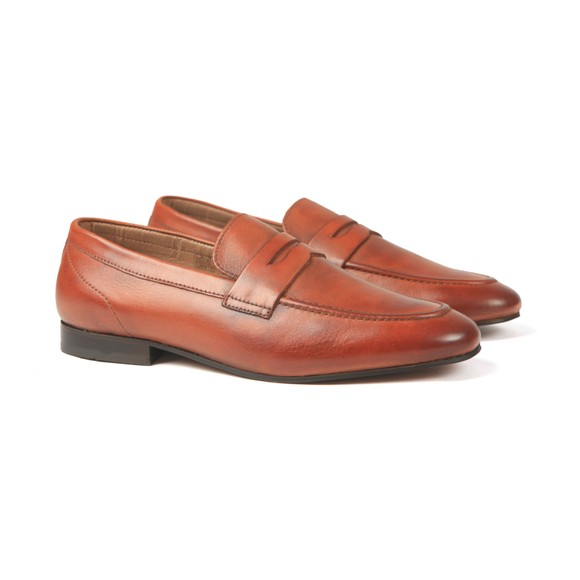 H By Hudson Mens Brown Bolton Leather Shoe main image