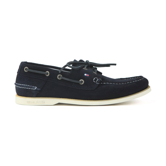 Tommy Hilfiger Mens Blue Classic  Suede Boatshoe