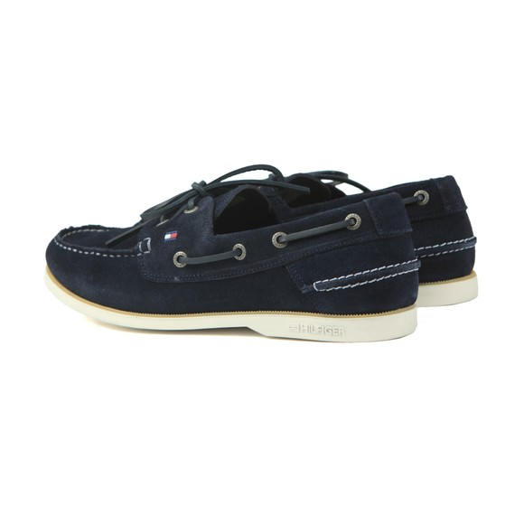 Tommy Hilfiger Mens Blue Classic  Suede Boatshoe main image