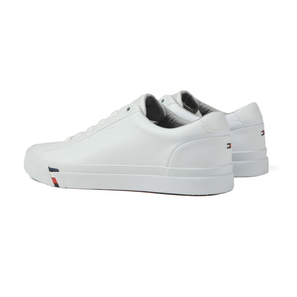 Tommy Hilfiger Mens White Signature Tape Leather Trainer main image