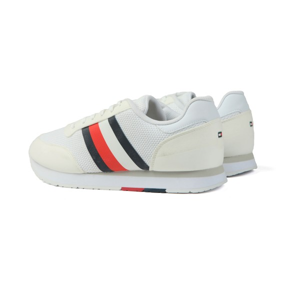 Tommy Hilfiger Mens White Signature Block Mix Trainer main image