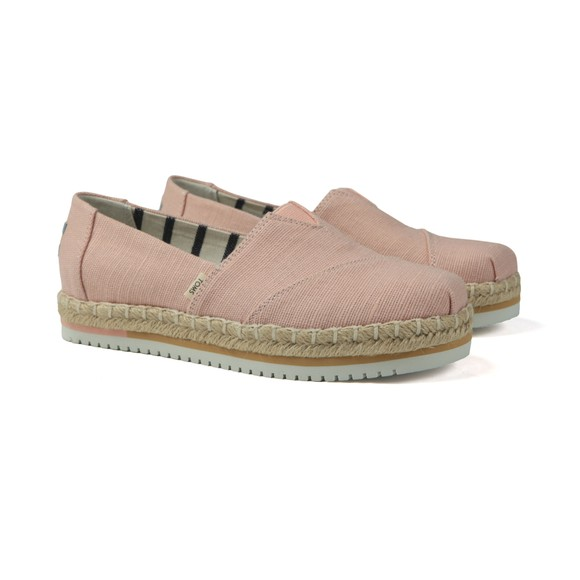 Toms Womens Pink Spanish Villa Platform Canvas