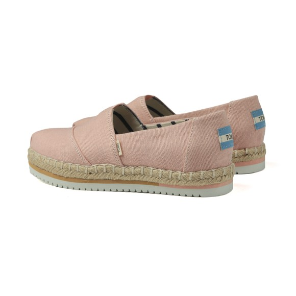 Toms Womens Pink Spanish Villa Platform Canvas main image