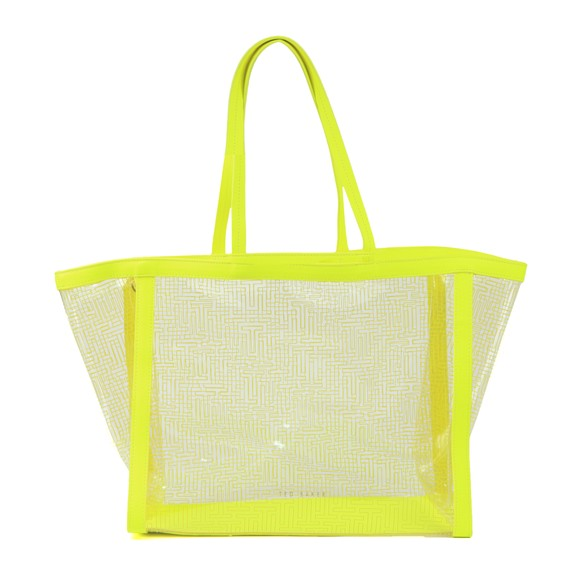 Ted Baker Womens Green Nicoley Transparent Shopper Bag main image