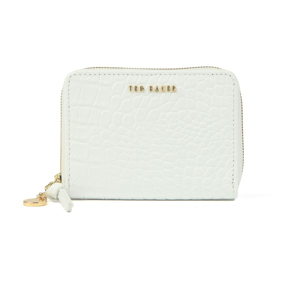 Ted Baker Womens Off-White Stamoo Exotic Effect Zip Around Mini Purse