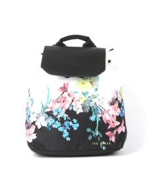 Ted Baker Womens Off-White Deviee Pergola Nylon Drawstring Backpack