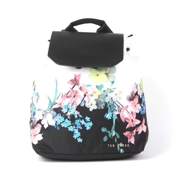 Ted Baker Womens Off-White Deviee Pergola Nylon Drawstring Backpack main image