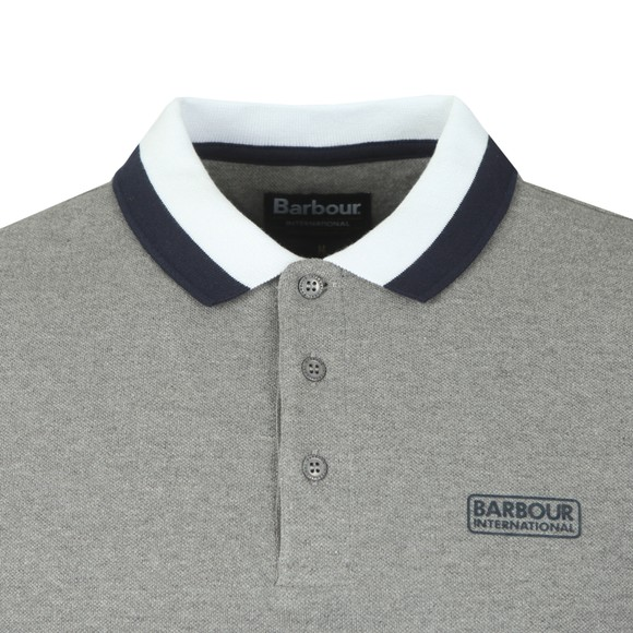 Barbour International Mens Grey Ampere Polo Shirt main image