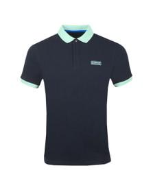 Barbour International Mens Blue Contrast Polo Shirt