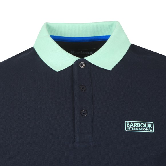 Barbour International Mens Blue Contrast Polo Shirt main image