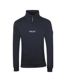 Marshall Artist Mens Blue Half Zip Siren Sweatshirt
