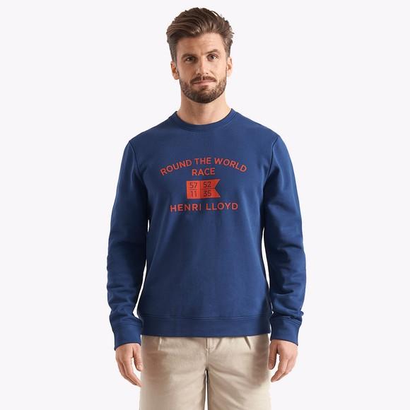 Henri Lloyd Mens Blue RWR Sweatshirt