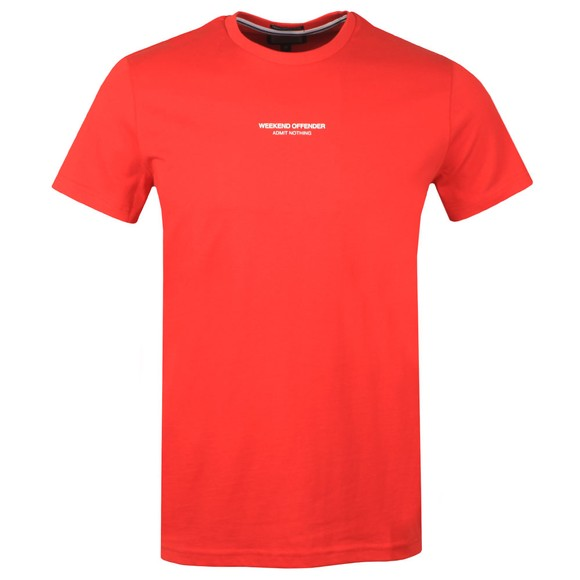 Weekend Offender Mens Orange WO T-Shirt