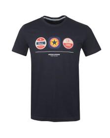 Weekend Offender Mens Blue Beer Mats T Shirt