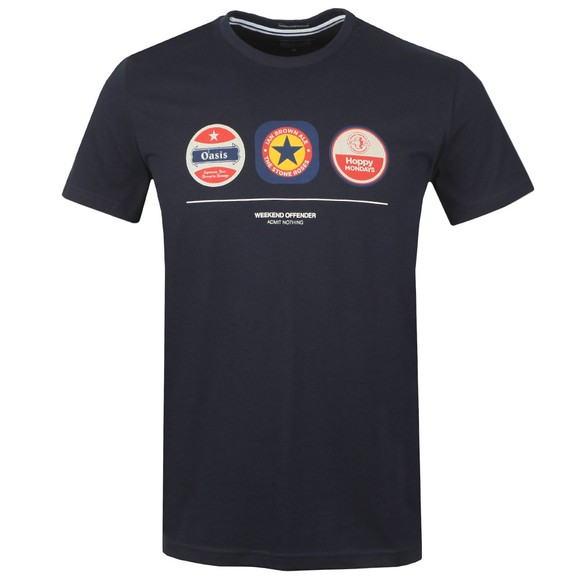 Weekend Offender Mens Blue Beer Mats T Shirt