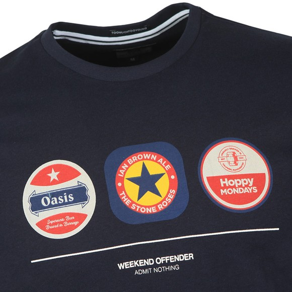 Weekend Offender Mens Blue Beer Mats T Shirt main image