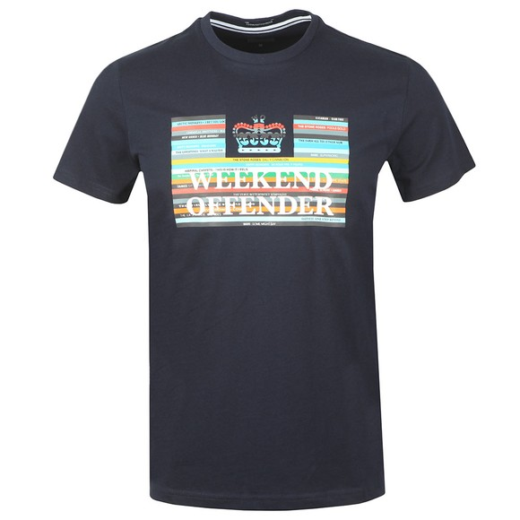 Weekend Offender Mens Blue Spines T Shirt