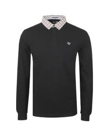 Weekend Offender Mens Black Bentvena Long Sleeve Polo Shirt