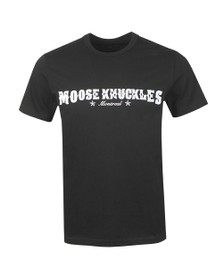 Moose Knuckles Mens Black Western Script T Shirt