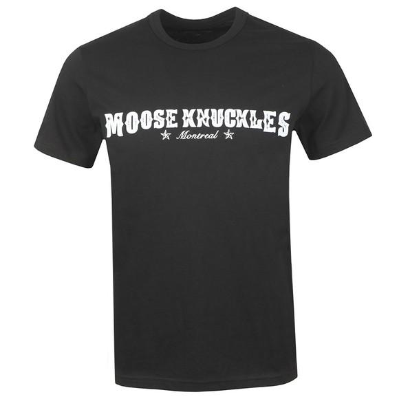 Moose Knuckles Mens Black Western Script T Shirt