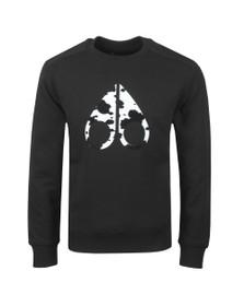 Moose Knuckles Mens Black Whitehorn Sweatshirt