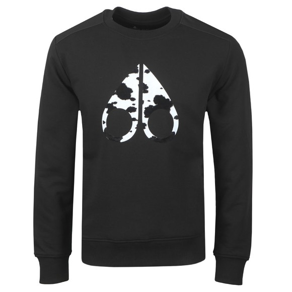 Moose Knuckles Mens Black Whitehorn Sweatshirt