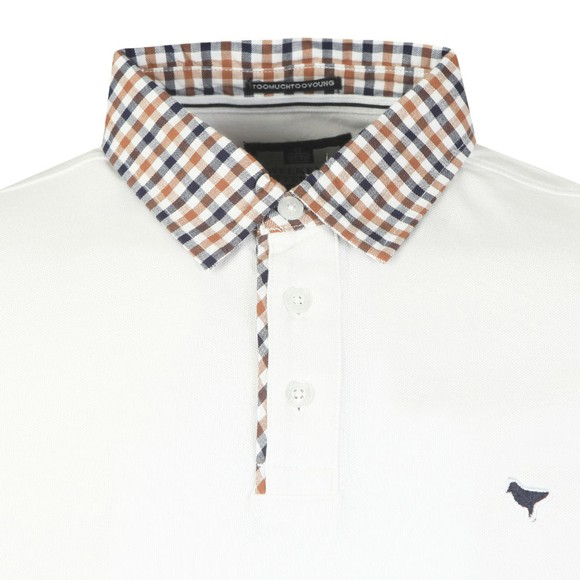 Weekend Offender Mens White Liotta Polo Shirt main image
