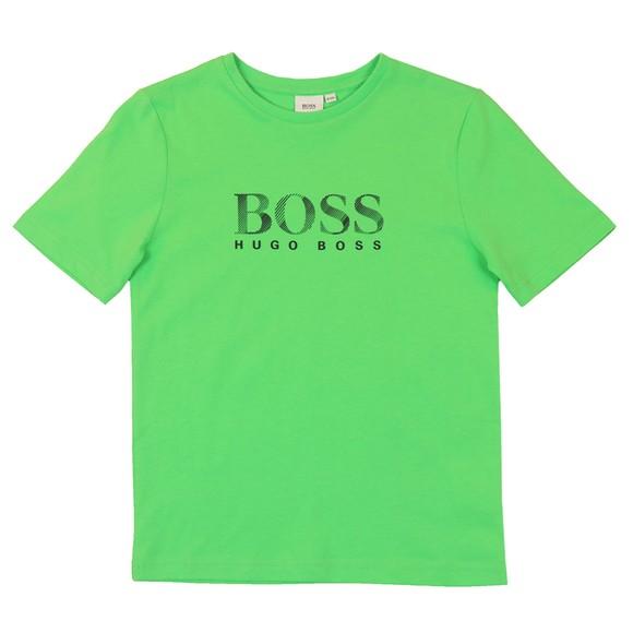 BOSS Boys Green Regular T-Shirt main image