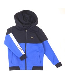 Lacoste Sport Boys Blue Colour Block Hoody