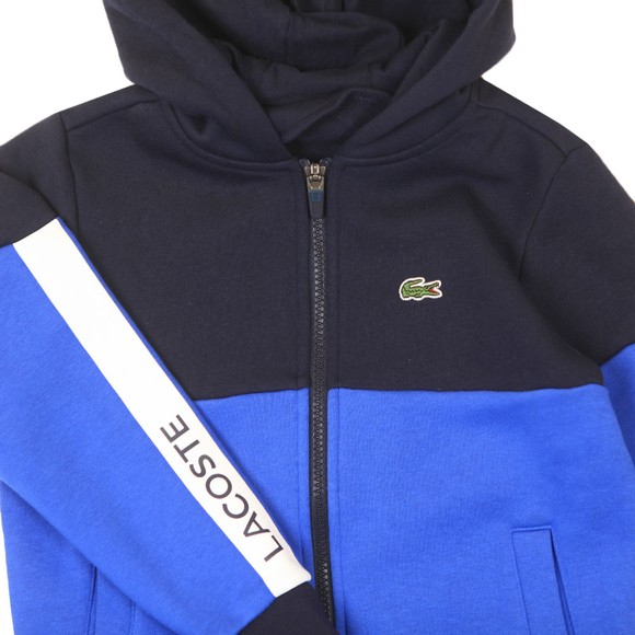 Lacoste Sport Boys Blue Colour Block Hoody main image