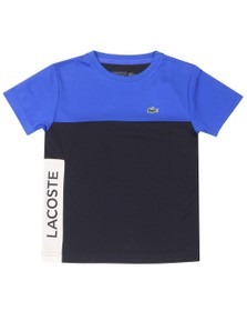 Lacoste Sport Boys Blue Colour Block T-Shirt
