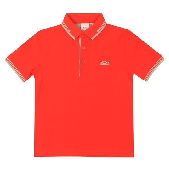BOSS Boys Orange Short Sleeve Twin Collar Polo Shirt main image