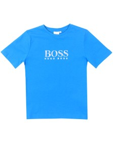BOSS Boys Blue Regular T-Shirt