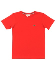 Lacoste Boys Red Small Logo T Shirt
