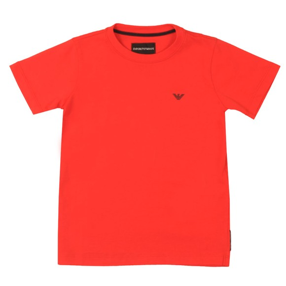 Emporio Armani Boys Red Boys Small Logo T Shirt