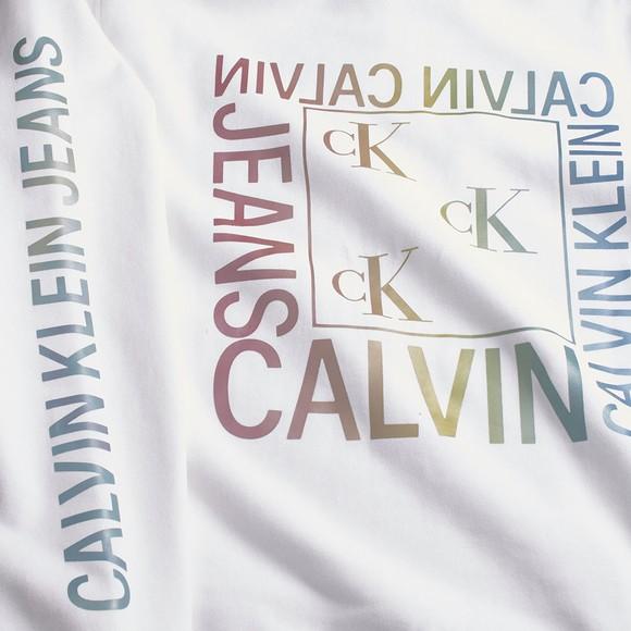 Calvin Klein Jeans Womens White Degrade Logo Relaxed Hoody main image