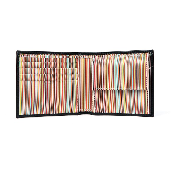 PS Paul Smith Mens Black Signature Stripe Coin Wallet