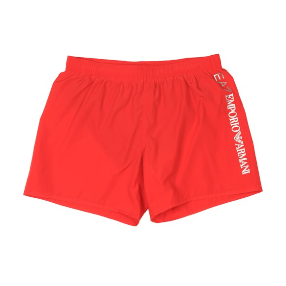 EA7 Emporio Armani Mens Red Logo Swim Short