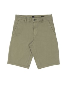 BOSS Mens Green Casual Schino Slim Short