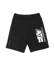 EA7 Emporio Armani Mens Black Logo Sweat Short